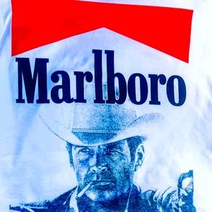 Vintage s/s Marlboro cowboy shirt size L